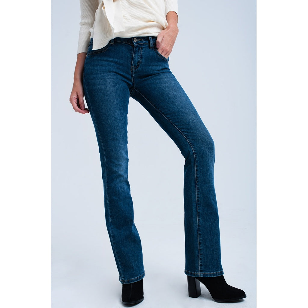 Denim flared jeans - Ceiba Imports