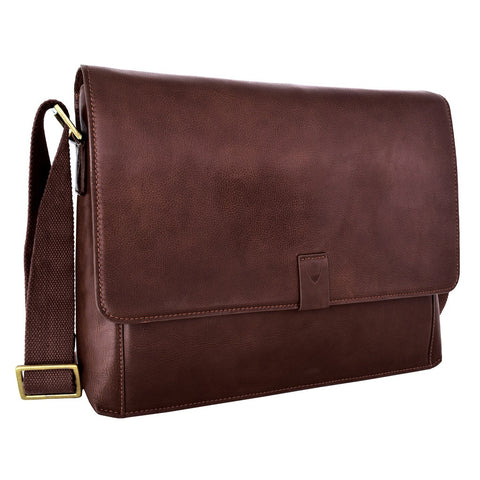 Aiden Leather Messenger Cross Body