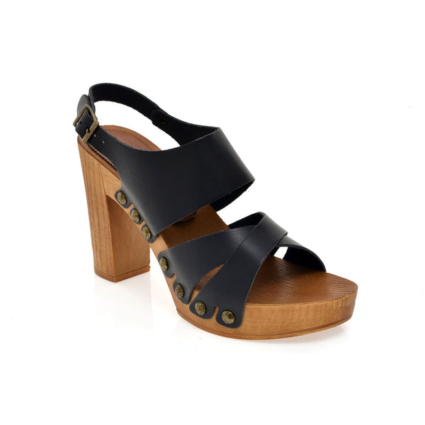 Leather platform sandal - Ceiba Imports