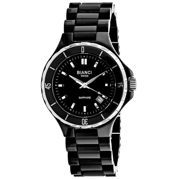 black ceramic woman watch