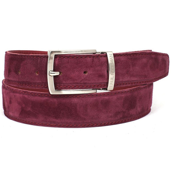 PAUL PARKMAN Men's Purple Suede Belt - Ceiba Imports