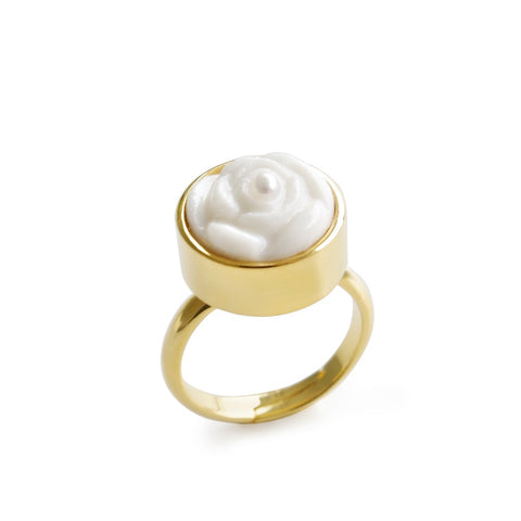 Porcelain Rose Ring