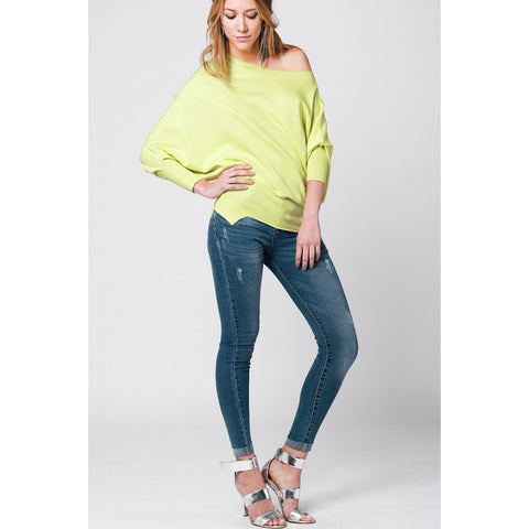 Yellow soft asymmetric jersey