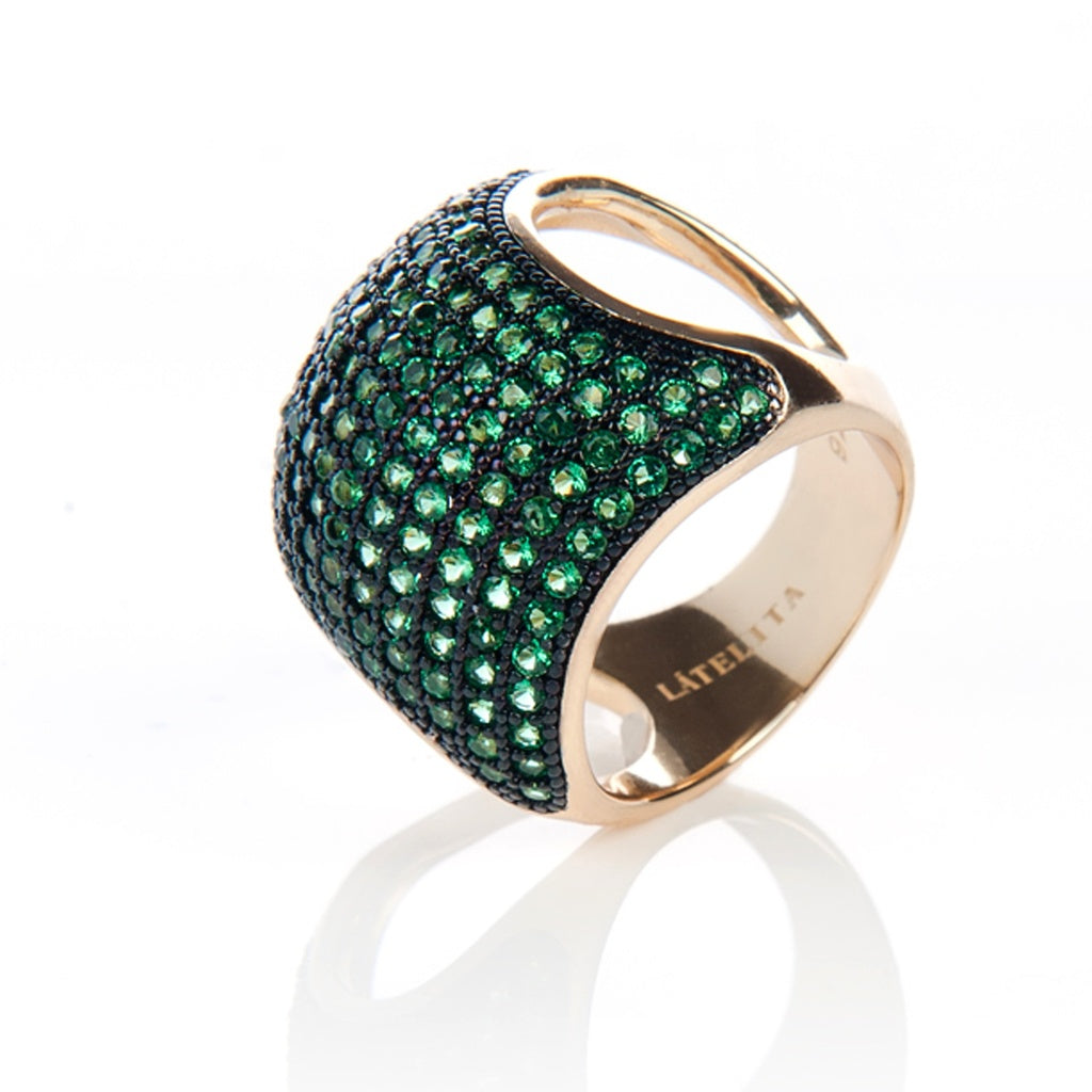 Emerald Cocktail Ring - Ceiba Imports