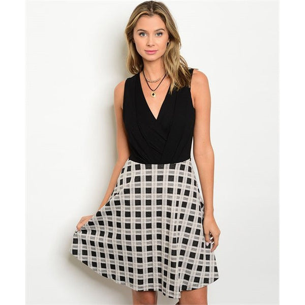 Black And White  Dress - Ceiba Imports