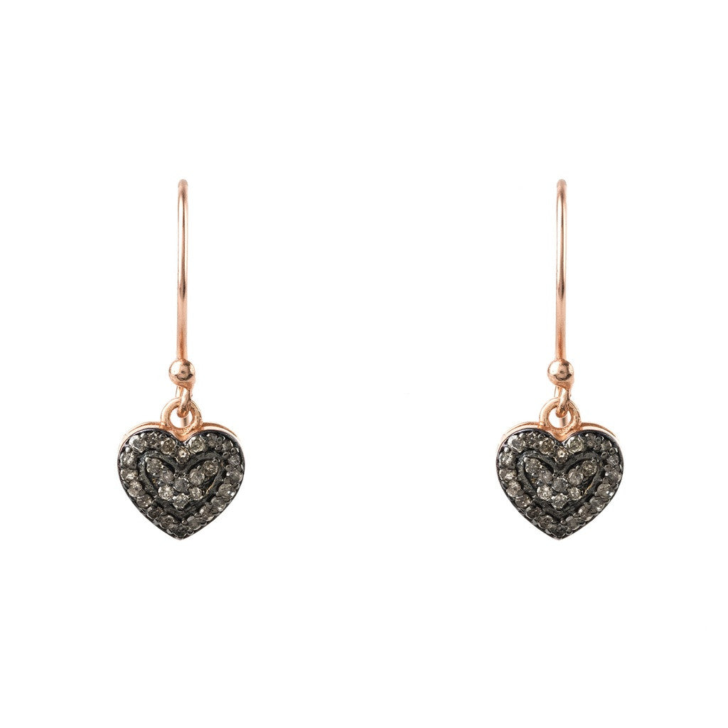 Diamond Petite Heart Drop Earring