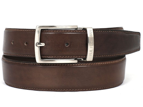 Paul Parkman Men's Leather Belt Hand-Painted Brown - Ceiba Imports