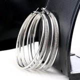 Lovely Plated Three Circles Hoops - Ceiba Imports