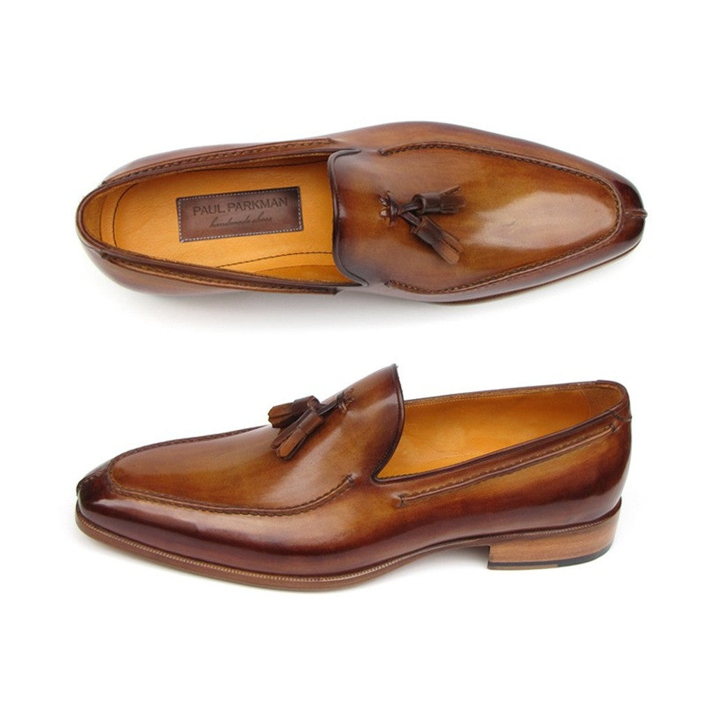 Paul Parkman Men's Tassel Loafer Camel & Brown - Ceiba Imports