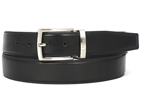 Paul Parkman Men's Leather Belt Hand-Painted Black - Ceiba Imports