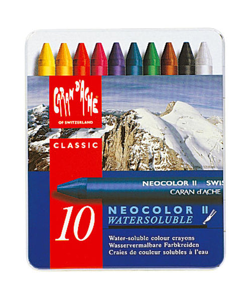 Caran d'Ache Neocolor II Water-Soluble Wax Pastels - Set of 10