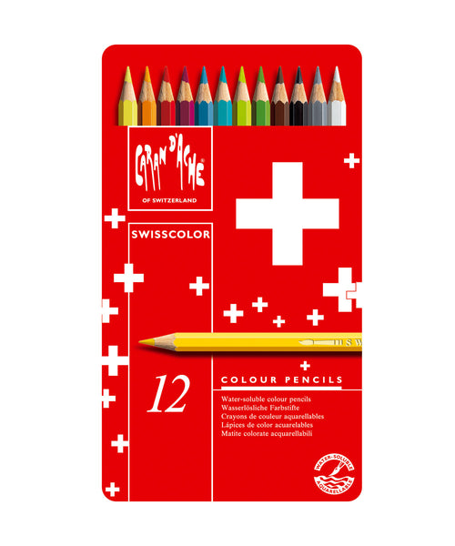 Caran d'Ache Swisscolor Coloured Pencils - Set of 12