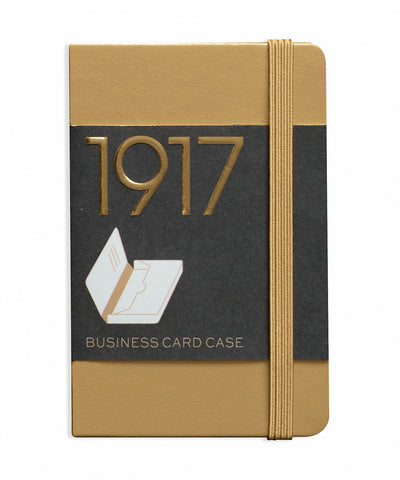 Leuchtturm1917 100 Year Anniversary Edition Business Card Case - Gold