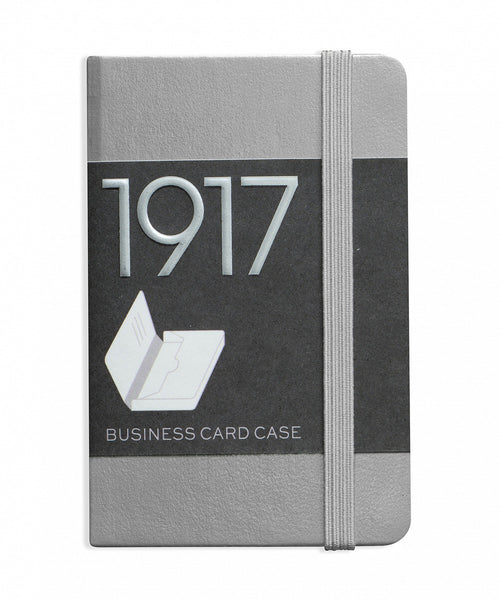 Leuchtturm1917 100 Year Anniversary Edition Business Card Case - Silver