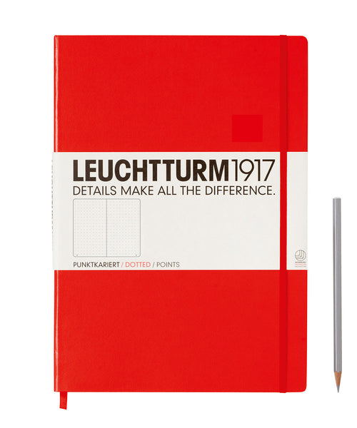 Leuchtturm1917 Master Classic (A4+) Hardcover Notebook - Red