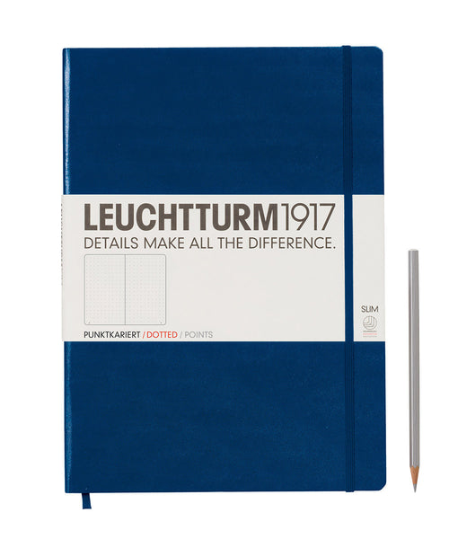 Leuchtturm1917 Master Slim (A4+) Hardcover Notebook - Navy