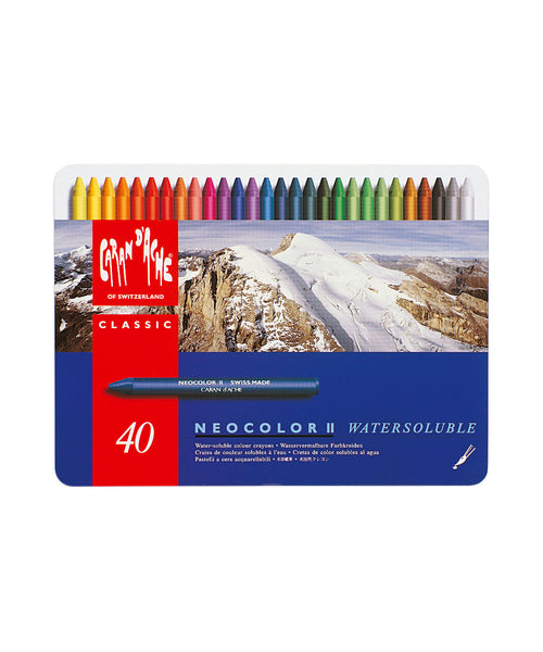 Caran d'Ache Neocolor II Water-Soluble Wax Pastels - Set of 40
