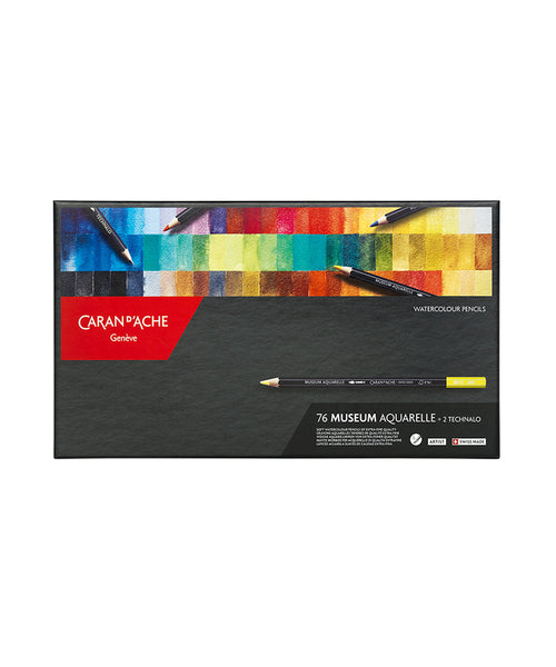 Caran d'Ache Museum Aquarelle Coloured Pencils - Set of 76