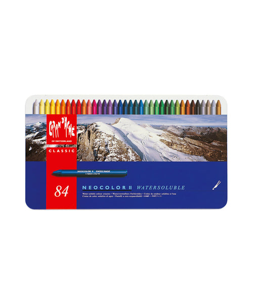 Caran d'Ache Neocolor II Water-Soluble Wax Pastels - Set of 84