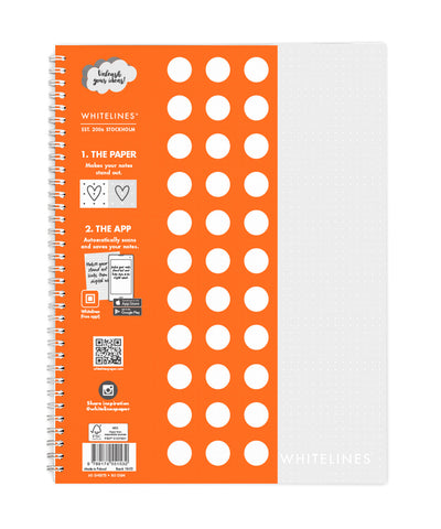 Whitelines Large (A4) Spiral Bound Notebook - Dotted