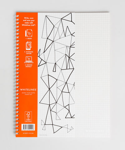 Whitelines Large (A4) Spiral Bound Notebook - Squared