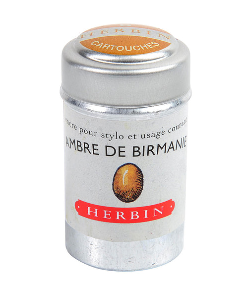 J Herbin Ink Cartridges - Ambre de Birmanie (Burmese Amber)