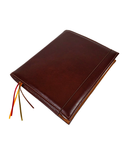 Archie's Leather B5 Notebook - Burgundy Brown