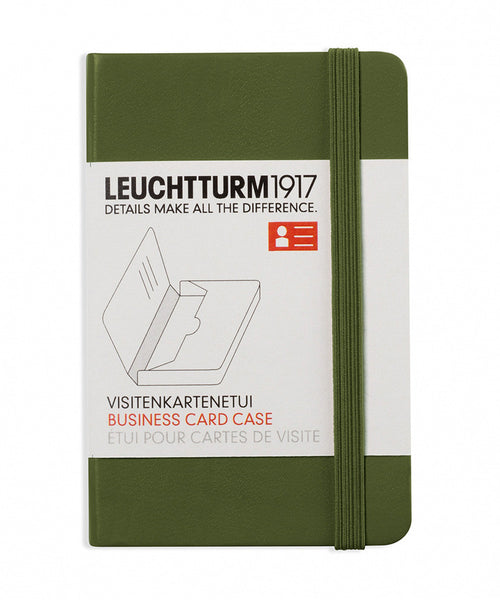 Leuchtturm1917 Business Card Case - Army