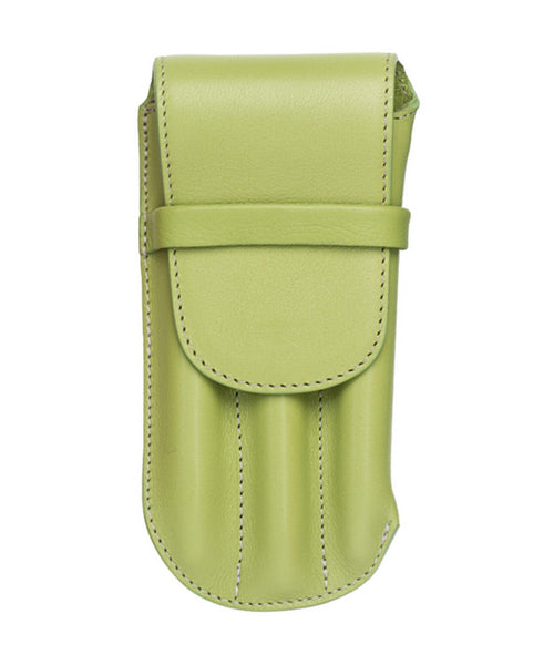 Atelier De La Foret Triple Pen Case - Kiwi Green