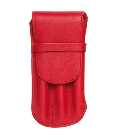 Atelier De La Foret Triple Pen Case - Red