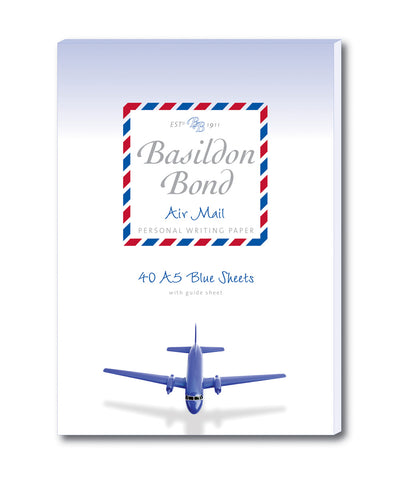 Basildon Bond Writing Paper - Blue Air Mail