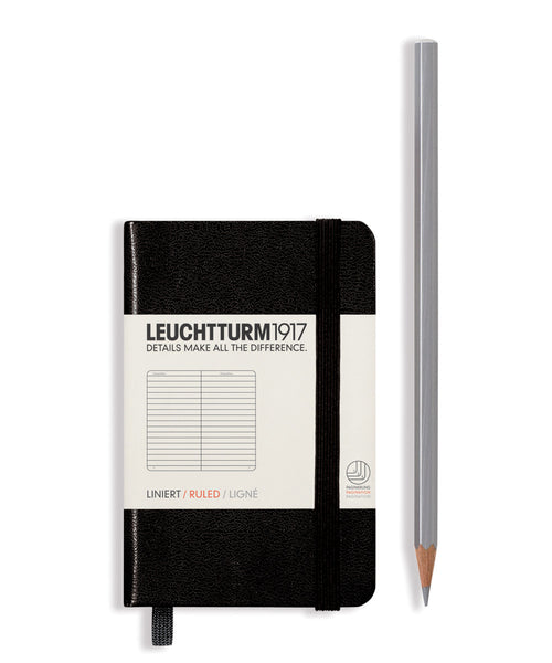 Leuchtturm1917 Mini (A7) Hardcover Notebook - Black