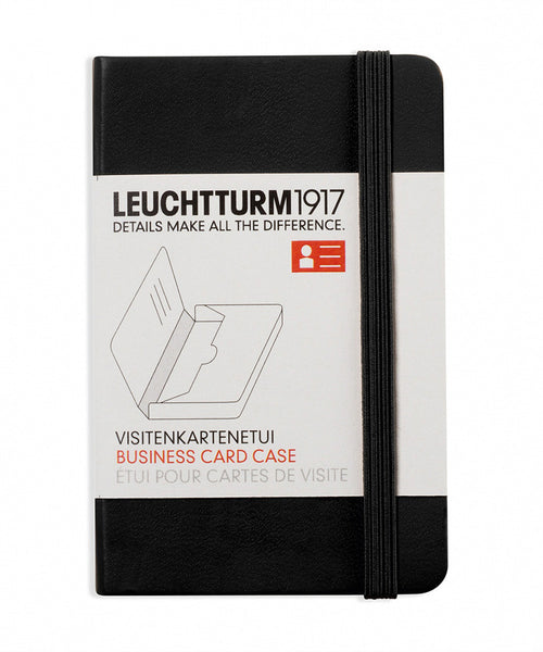 Leuchtturm1917 Business Card Case - Black