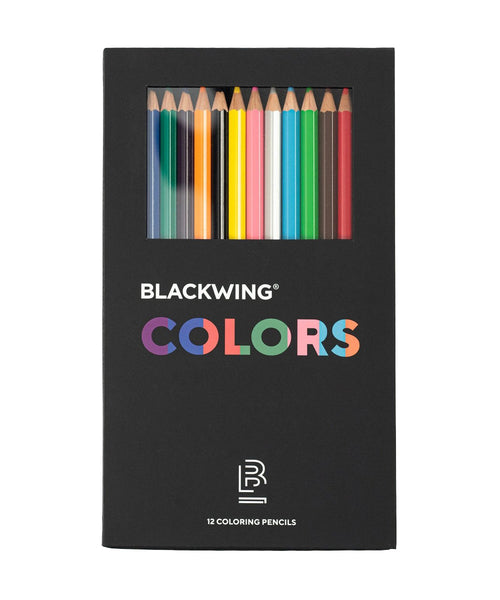 Blackwing Colors Coloured Pencils - Box of 12 Assorted Colours