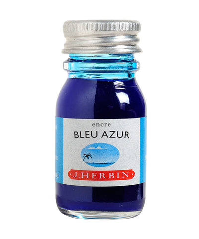 J Herbin Ink (10ml) - Bleu Azur (Azure Blue)