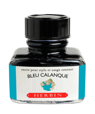J Herbin Ink (30ml) - Bleu Calanque (Cove Blue)