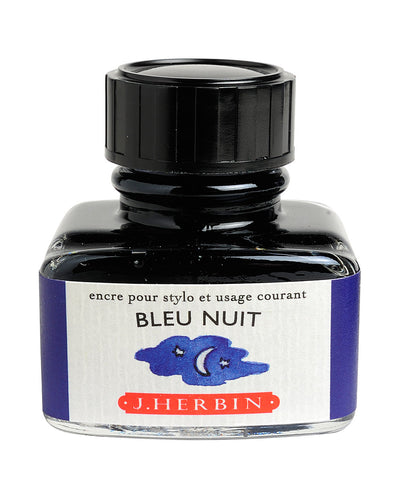 J Herbin Ink (30ml) - Bleu Nuit (Midnight Blue)