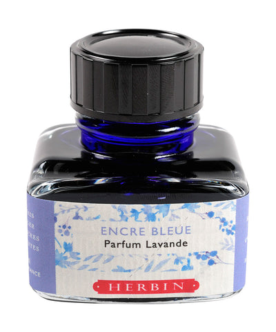 J Herbin Scented Ink (30ml) - Blue (Lavender scented)