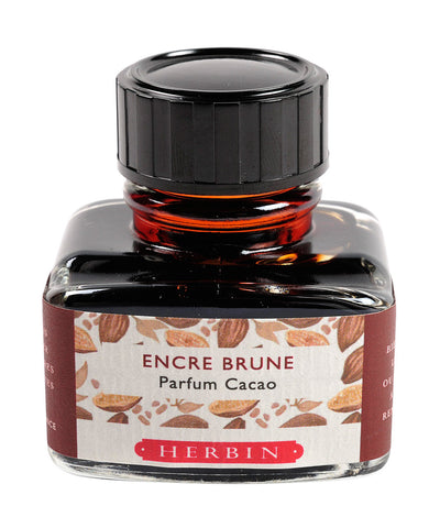 J Herbin Scented Ink (30ml) - Brown (Cocoa scented)