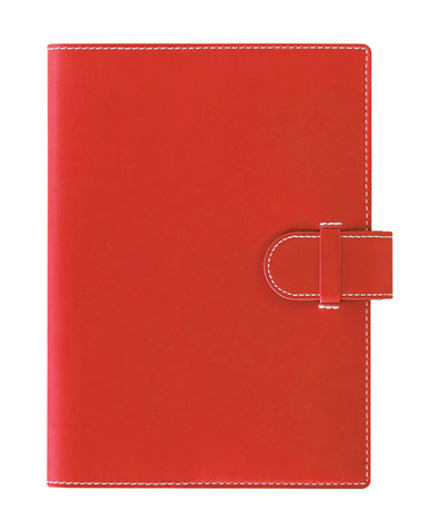 Castelli Arles A5 Ruled Notebook - Coral Red