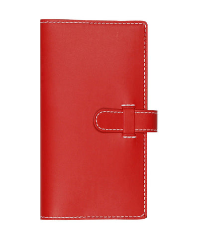 Castelli Arles Pocket Ruled Notebook - Coral Red
