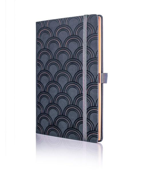 Castelli Black & Copper Collection Notebook - Art Deco Copper