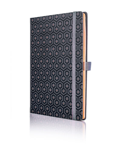 Castelli Black & Copper Collection Notebook - Honeycomb Copper