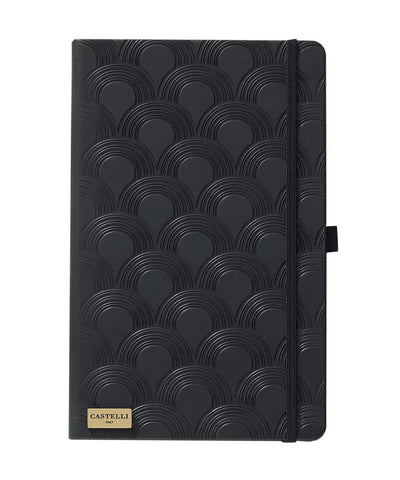 Castelli Black & Gold Collection Notebook - Art Deco Black