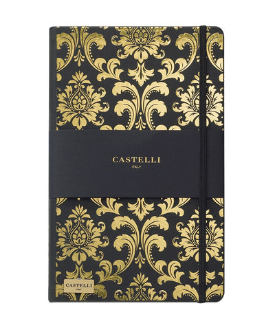 Castelli Black & Gold Collection Notebook - Baroque Gold