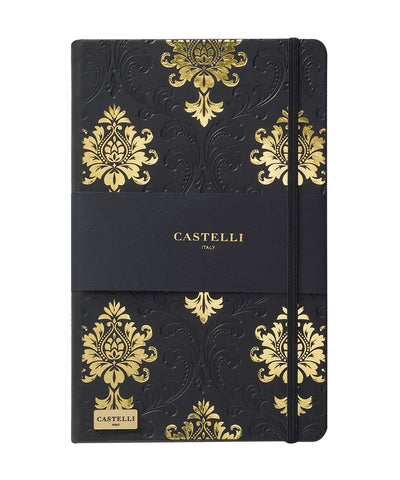 Castelli Black & Gold Collection Notebook - Baroque Black & Gold