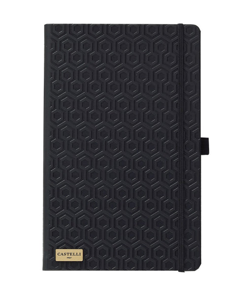 Castelli Black & Gold Collection Notebook - Honeycomb Black