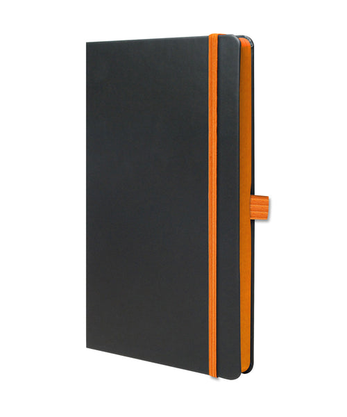 Castelli Edge Medium Ruled Notebook - Orange