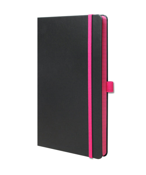 Castelli Edge Medium Ruled Notebook - Pink