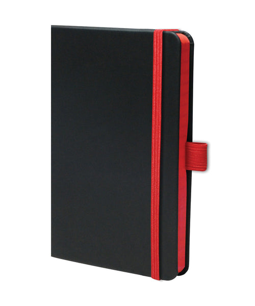 Castelli Edge Pocket Ruled Notebook - Red